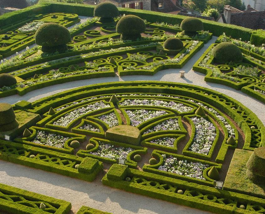 The french garden - Château de Hautefort