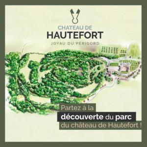 Couverture du dépliant randonnées du parc du château de Hautefort